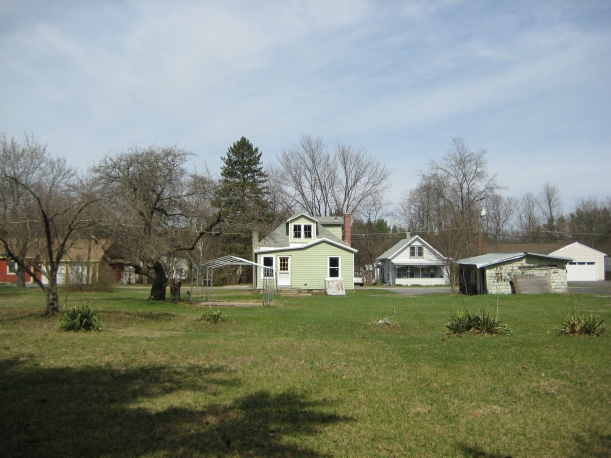 House and yard looking from the southeast